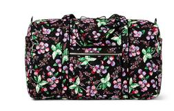 Iconic Vera Bradley LARGE DUFFEL BAG WINTER BERRY New Travel