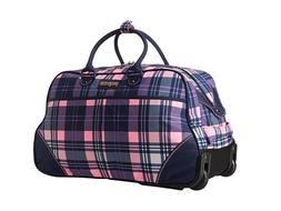 JanSport Small Rolling Duffel Wheeled Travel bag Pink Pansy