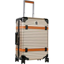 LANZZO Aluminum Magnesium Alloy Luggage with Spinner Wheels