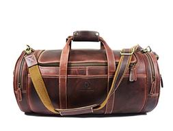 Leather Duffle Bag | Barrel Bag With Adjustable Straps | Ful