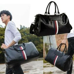 Men's Leather Shoulder Bags Duffle Gym Bags Carry-on Luggage