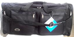 "NEW 30"" INCH DUFFLE BAG BLACK MULTIBLE COMPARTMENTS  SHOULDE"