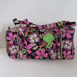 NEW Vera Bradley PIROUETTE PINK SMALL DUFFEL Duffle Gym Bag