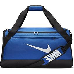 NIKE Brasilia Duffel Bag, Game Royal/Black/White, Medium