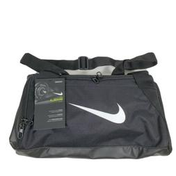 NIKE Brasilia Training Duffel Bag, Black/Black/White, X-Smal
