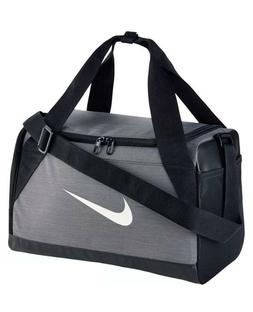 Nike Brasilia Duffel Bag X-Small Travel Gym Bag Grey/White/B