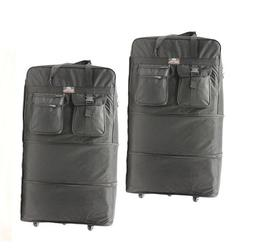 """Pack of 2, 40"""" Expandable Wheeled Bags Rolling Duffel Spinne"""