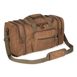 Plambag Canvas Duffle Bag for Travel, 50L Duffel Overnight W