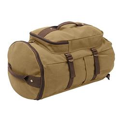 "Rothco Convertible 19"" Canvas Duffle/Backpack - Coyote & Bro"