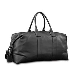 Samsonite Mens Leather Classic Duffel Black