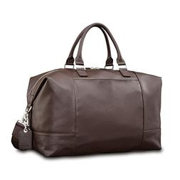 Samsonite Mens Leather Classic Weekender Dark Brown