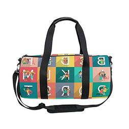 Sports Bag Alphabet Vacation Mens Duffle Luggage Travel Bags