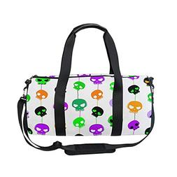 Sports Bag Cute Skulls Emoji Mens Duffle Luggage Travel Bags