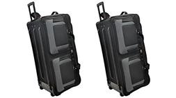 TWO PCS Amaro 36 Inch 1200d Explorer Rolling Duffle Bag V.2