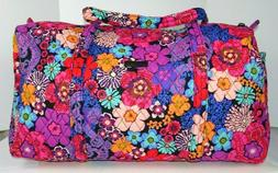 Vera Bradley SMALL & LARGE DUFFEL Set Travel Bag Floral Fies