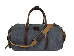 Water-Resistant Retro Style Travel Duffle Bag| Waxed Canvas