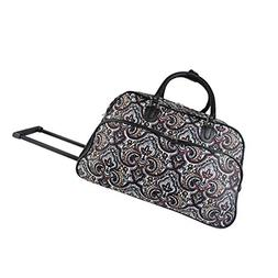 World Traveler 21-Inch Carry Bag Rolling Duffel, New Paisley