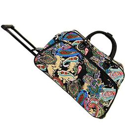 World Traveler 21-Inch Carry-On Rolling Duffel Bag, Multi Pa