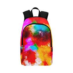 YUMOING Art Abstract Watercolor Vintage Casual Daypack Trave