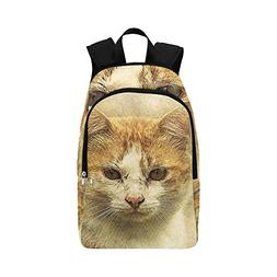 YUMOING Cat Pet Art Abstract Vintage Animal Kitty Casual Day