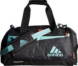 adidas Team Issue Duffel Bag, Black Jersey/Energy Aqua/Lucid