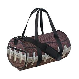 Naanle American Football Lace Gym bag Sports Travel Duffle B