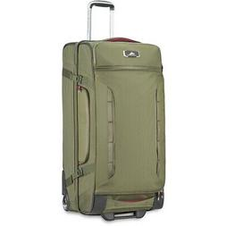 """High Sierra AT8 32"""" Wheeled Duffel Upright, Olive/Cranberry"""