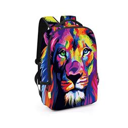 Fashion Backpack,Realdo Women Men 3D Galaxy Travel Satchel R