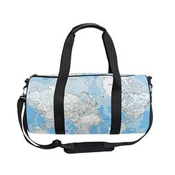 Sports Bag Political Map Mens Duffle Luggage Travel Bags Kid
