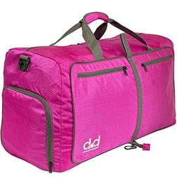 Medium Gym Duffle Bag with Pockets 60L - Foldable Lightweigh