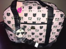 betsey johnson weekender quilted duffle travel bag