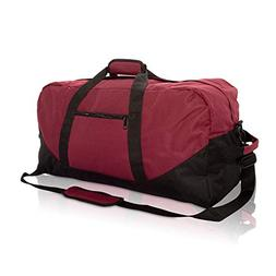 "DALIX 25"" Big Adventure Large Gym Sports Duffle Bag in Maroo"
