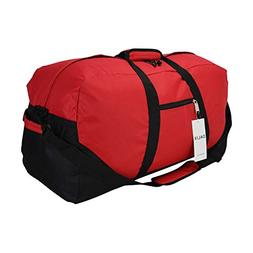 "DALIX 25"" Big Adventure Large Gym Sports Duffle Bag in Red"