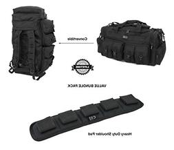 "Nexpak 30"" Black Convertible Backpack Duffel Duffle Molle Ta"