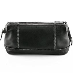 63d0b6216c08 ZOHL BLACK LEATHER TOILETRY BAG WITH METAL ZIPPER MADE IN GE