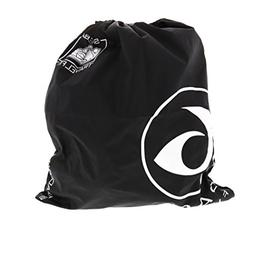 6 Pack Fitness Black/White Draw String Shoe Bag