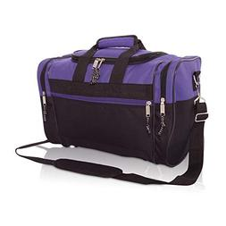 Blank Duffle Bag Duffel Bag in Black and Purple Gym Bag
