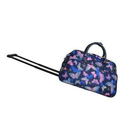World Traveler Blue Moon Butterfly 21-Inch Carry-On Rolling