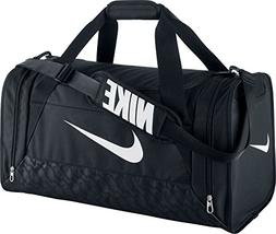 New Nike Brasilia 6 Large Duffel Bag Black/Black/White