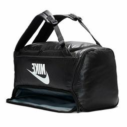 NIKE BRASILIA TRAINING CONVERTIBLE DUFFLE BAG BLACK/BLACK/WH