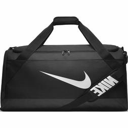 Nike Brasilia Training Duffel Bag Black Black White NIKE LOG