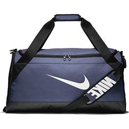 NIKE Brasilia Medium Duffle, Midnight Navy/Black/White, Misc