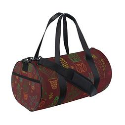 Cactus Drawing Dark Red Gym Bags Sports Travel Overnight Duf