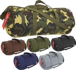 Camo Tactical Shoulder Bag Sports Canvas Gym Weekend Carry S