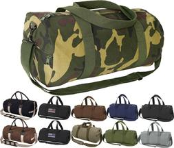 Camo Tactical Shoulder Bag Sports Canvas Gym Duffle Carry St