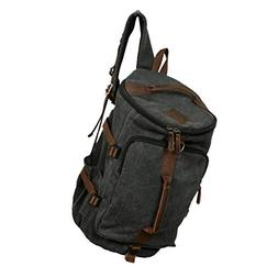 Homyl Large Men's Canvas Backpack Shoulder Bag Sports Travel