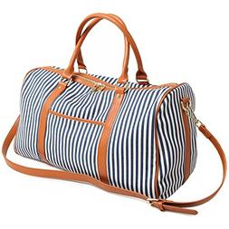 Women Canvas Weekender Overnight Carry Bag Travel Duffel Tot
