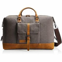 canvas duffel bag grey
