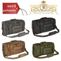 Canvas Duffle Bag Two Way Zipper Top Closures With Multiple