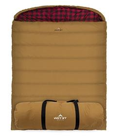 TETON Sports Mammoth +20F Queen-Size Double Canvas Sleeping